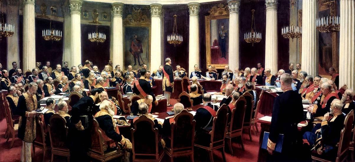 Repine, réunion inaugurale du Conseil d'État le 7 mai 1901